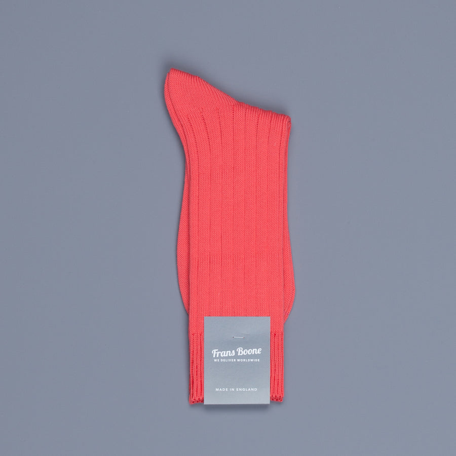 Frans Boone x Pantherella Raynor socks Coral