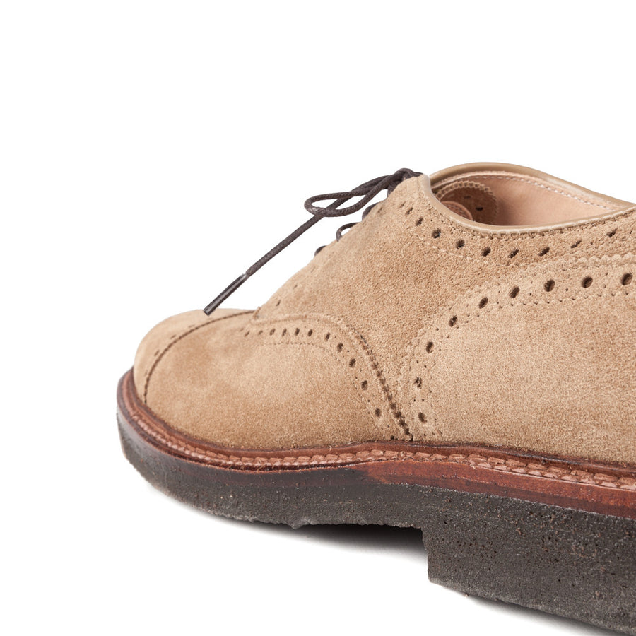 Alden x Frans Boone cap toe in tan suede on crepe sole