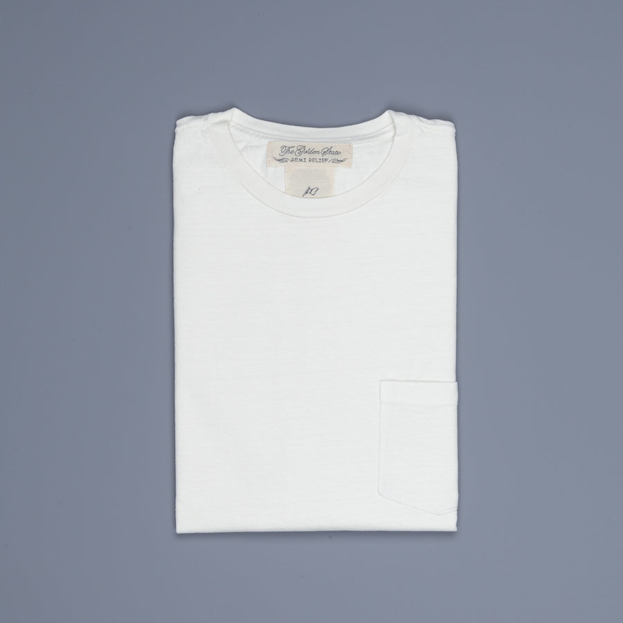 Remi Relief 16G Heavy Cotton Pocket Tee Off White