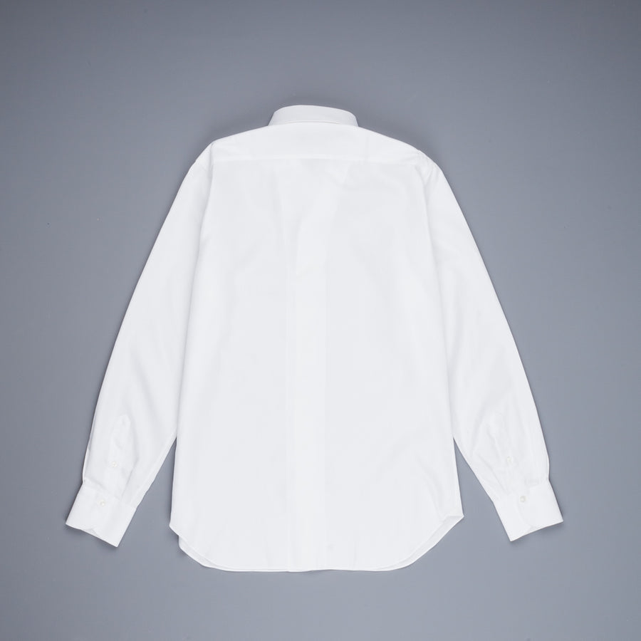 Finamore Napoli Shirt Ustica Collar Giro Inghlese White