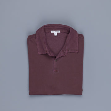 James Perse Revised Standard Polo Aubergine