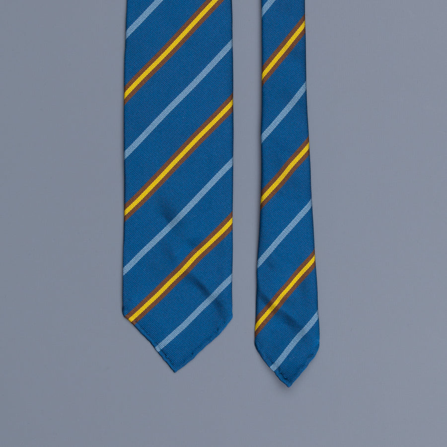 Drakes super repp Regimental tie Cambridge Old Salopian