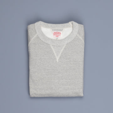 The Real McCoy's 10 Oz Suvin Raglan Sweatshirt Grey