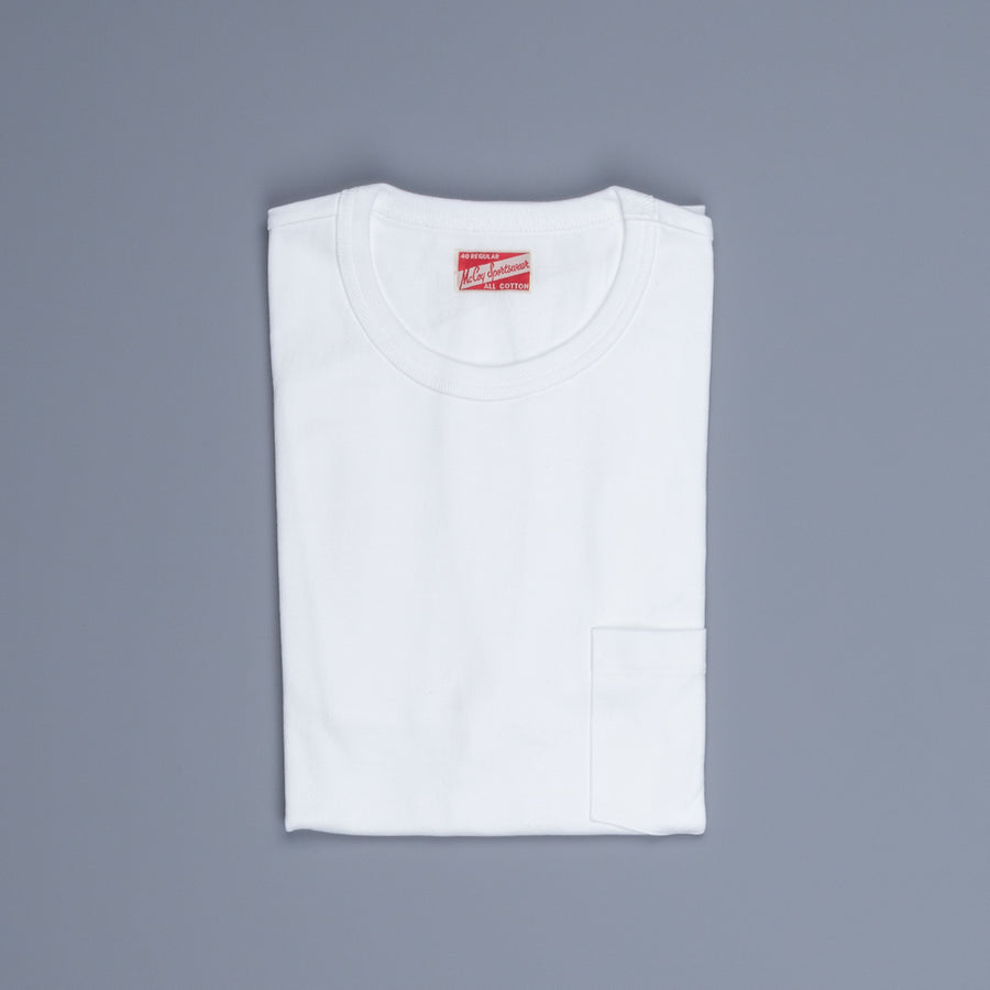 The Real McCoy's Pocket Tee White