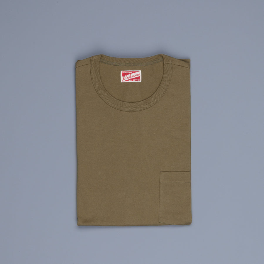 The Real Mc Coy's  Pocket Tee  Olive
