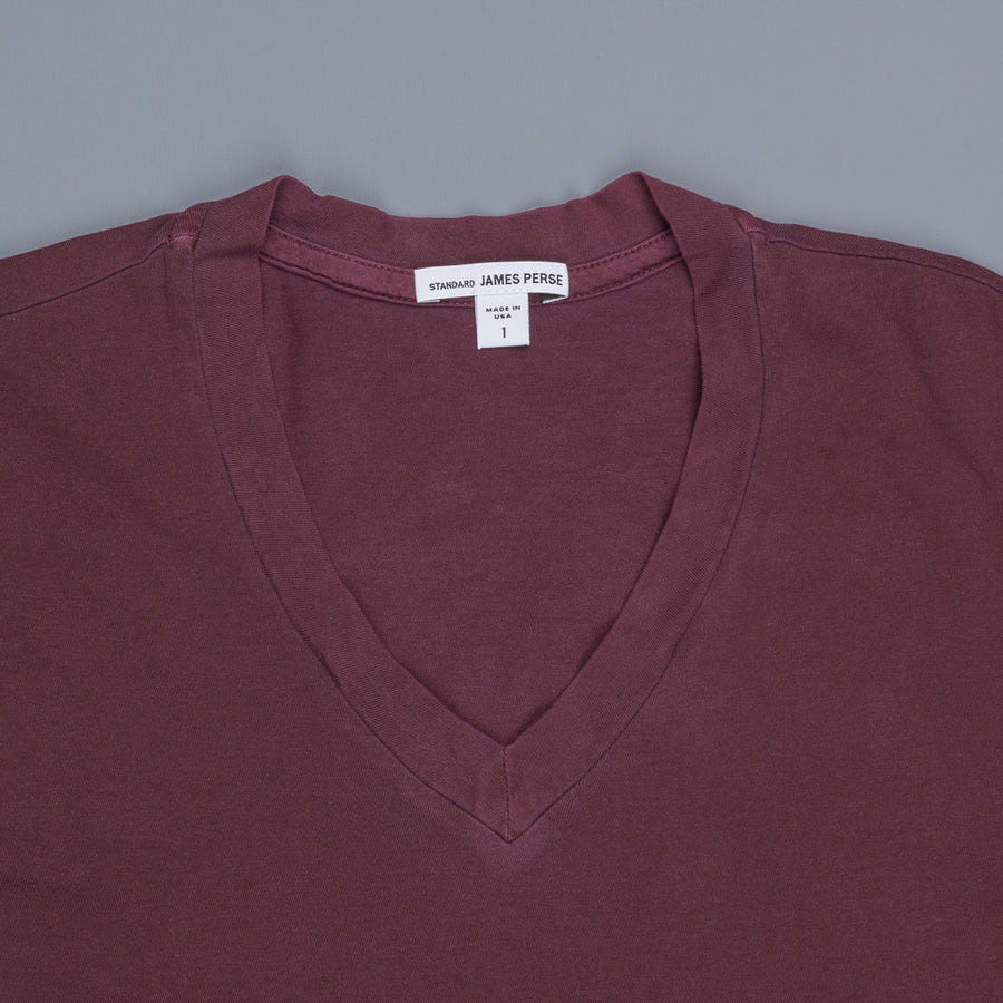 James Perse V Neck Tee Aubergine