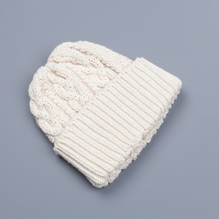 The Real McCoy's  White Aran knit cap