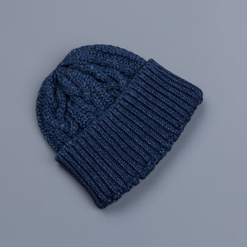 The Real McCoy's Indigo Aran knit cap