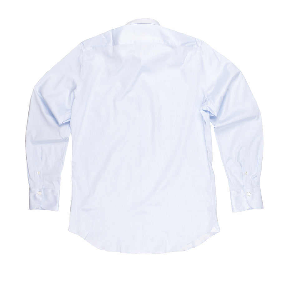 Finamore x Frans Boone Milano dress shirt white blue hairline