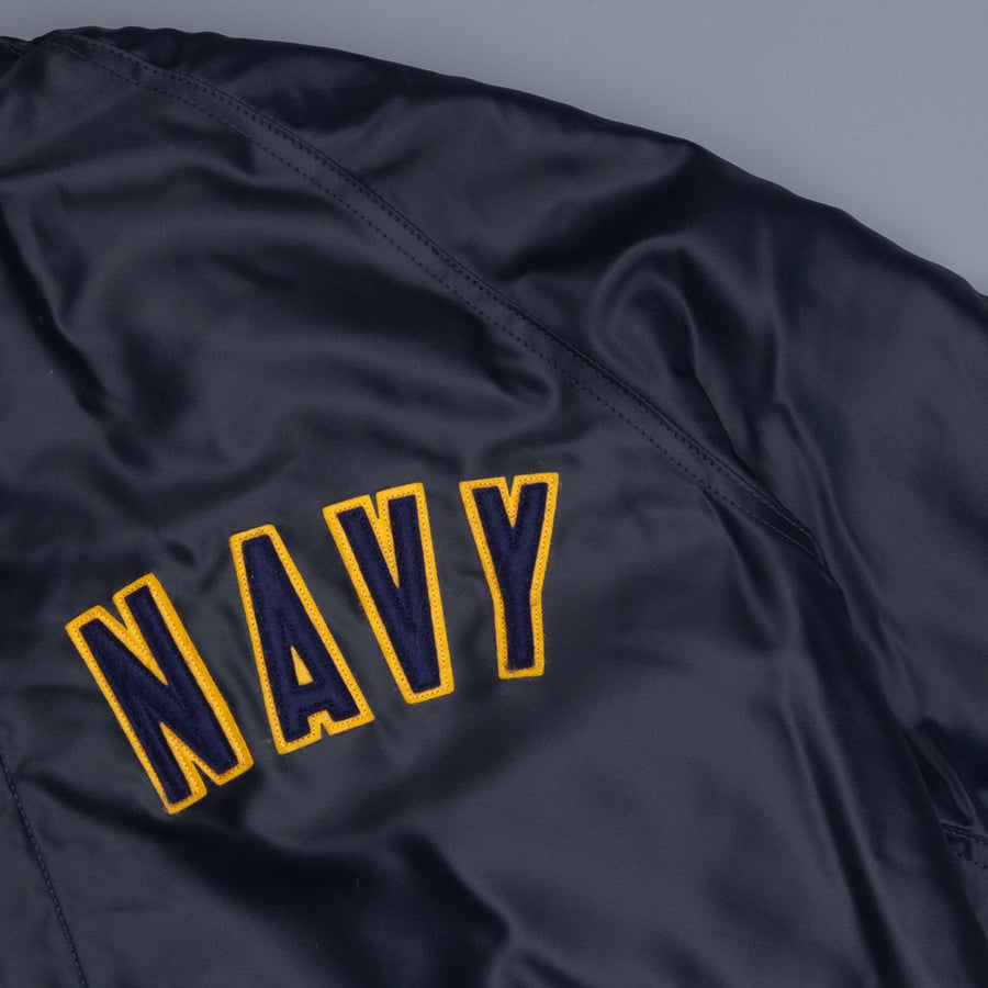 The Real McCoy's Military Athletic Jacket navy