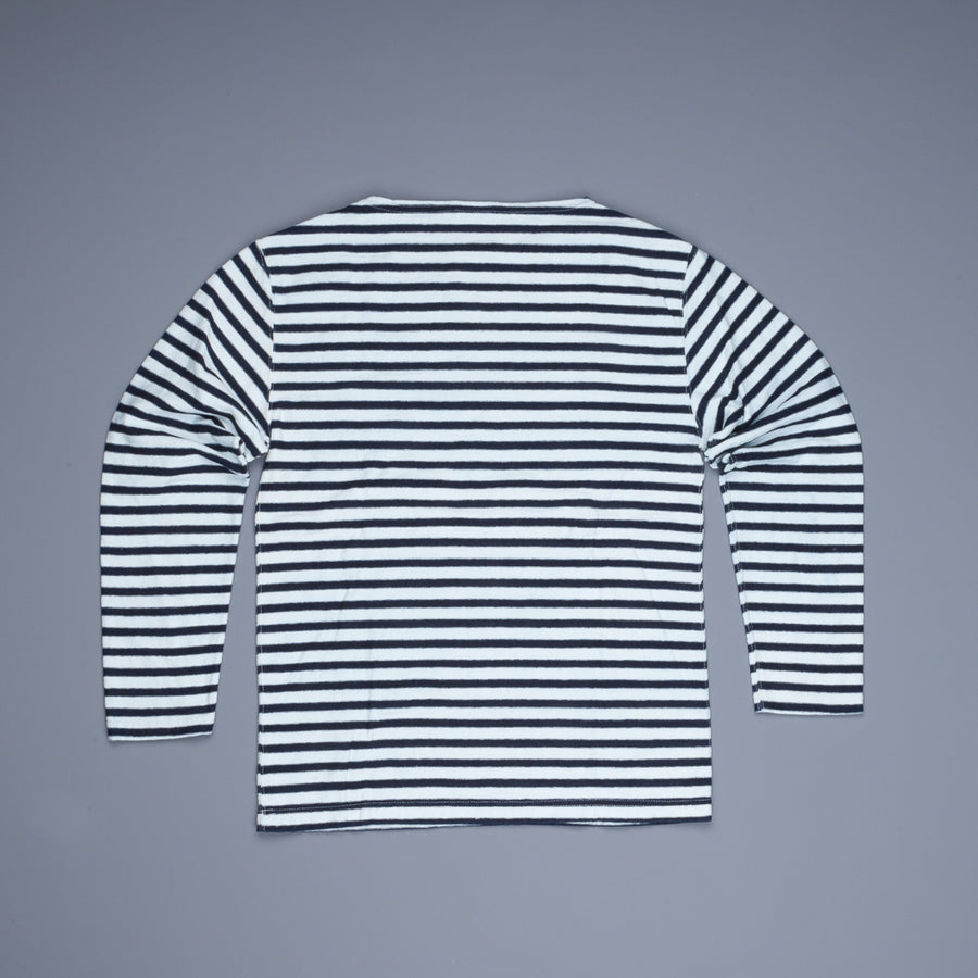 orSlow Longsleeve Tee Original Indigo Border Heavy T-Cloth