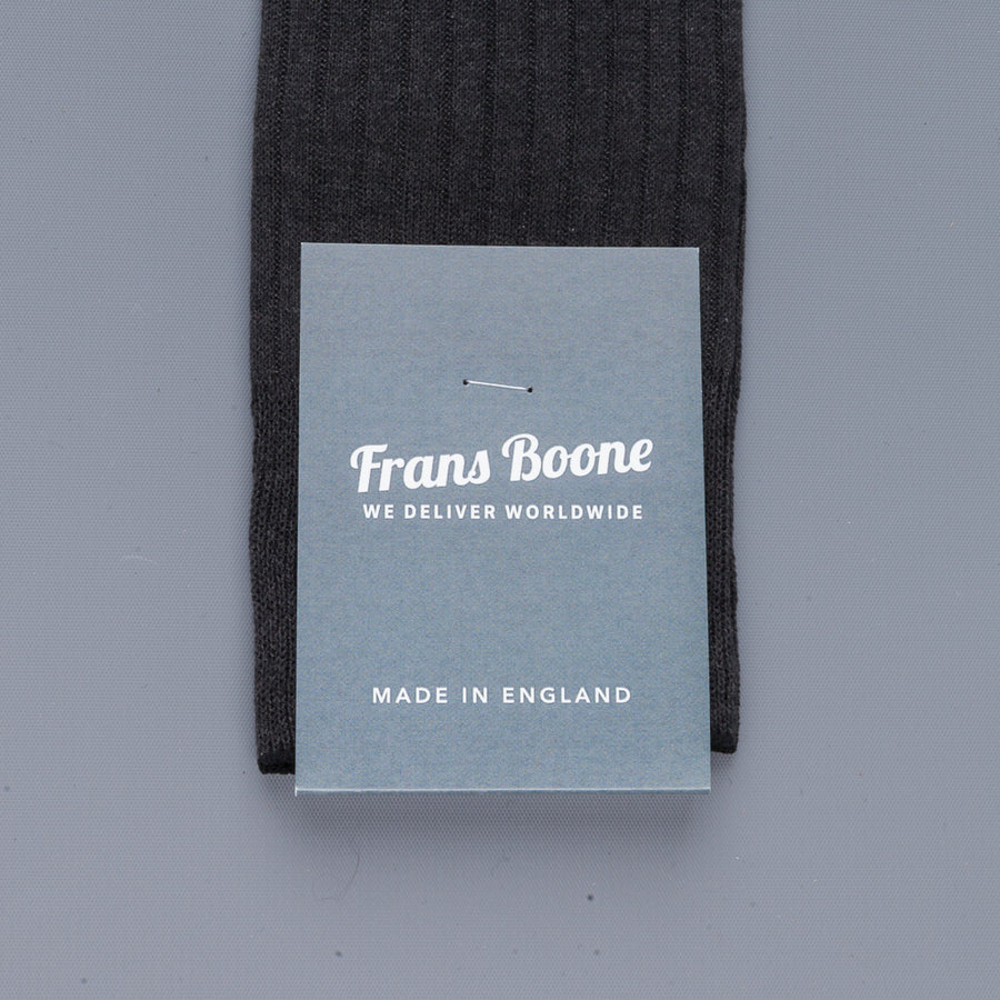 Frans Boone X Pantherella Socks 100% Fil d'Ecosse / Cotton lisle Dark Grey