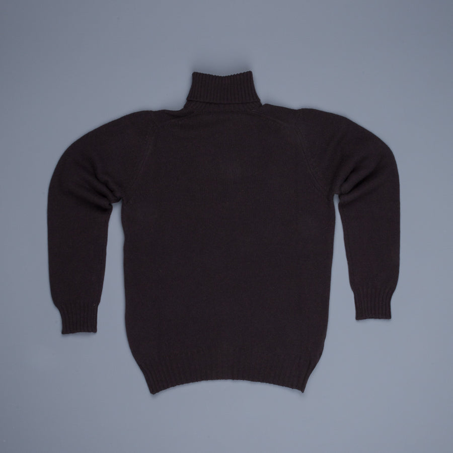 William Lockie Gullan Super Geelong Roll Neck Ebony