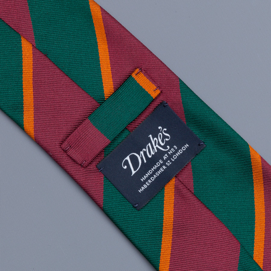 Drake's super repp Regimental tie Old Wimbledon