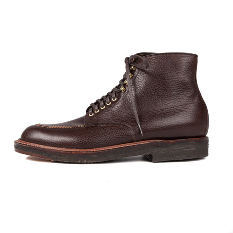 Alden x  Frans Boone dark brown coutry calf grain Indy boot on crepe sole