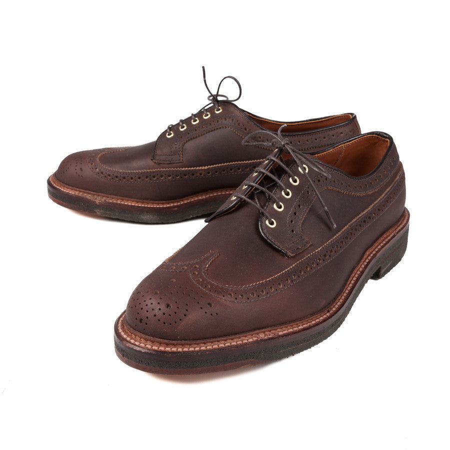 Alden Dark brown Kudu longwings on crepe