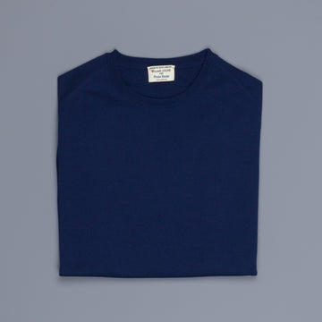 William Lockie x Frans Boone 30 gauge Loro Piana Merino's Crew Neck American Navy