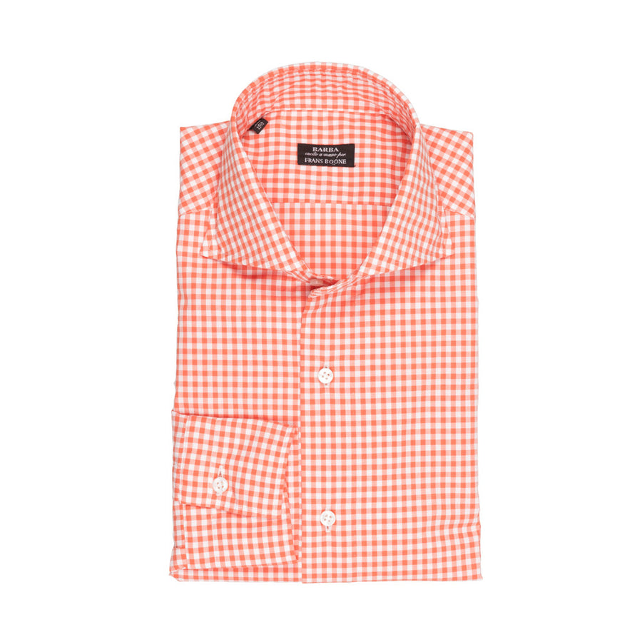 Barba Napoli Slimfit washed vichy Orange