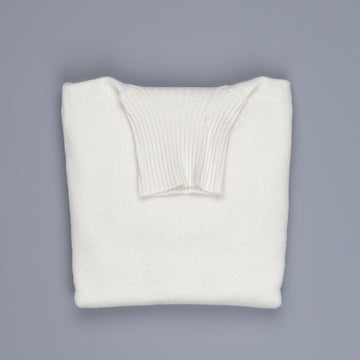 William Lockie Gullan Super Geelong Roll Neck Ice White