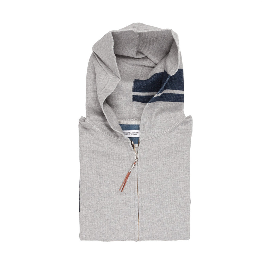 Ron Herman Zip Up Hoodie Grey