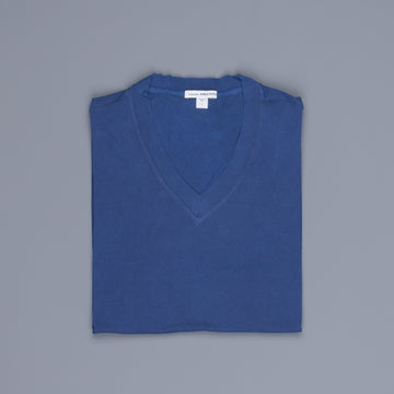 James Perse V Neck Tee Washington Blue Pigment