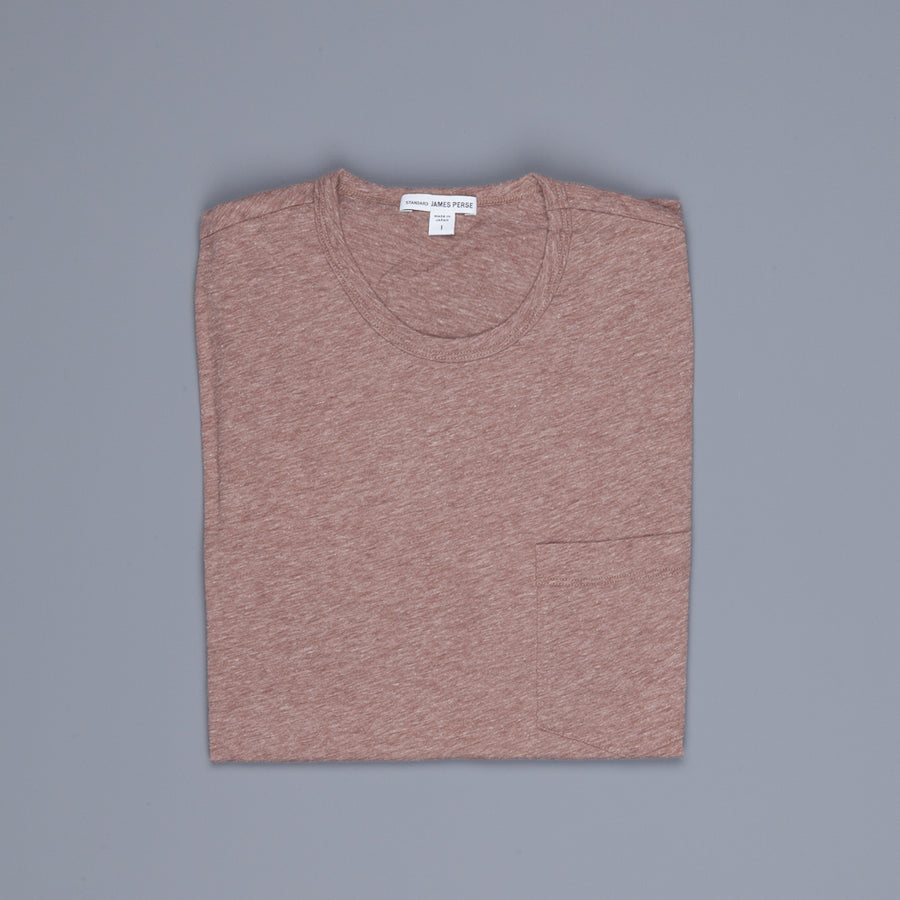 James Perse Pocket Tee Maroon Melange