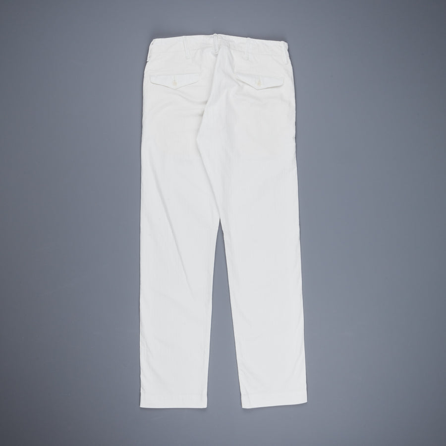 RRL Officer Chino Herringbone White Washed