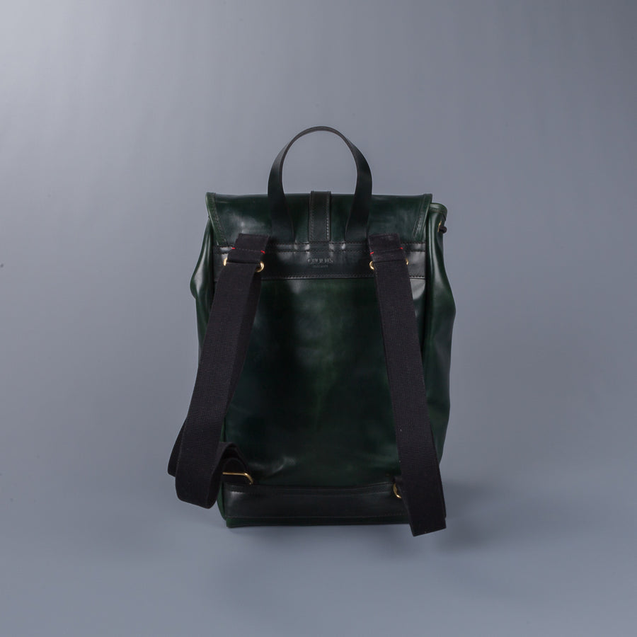 Croots Malton Bridle leather Rucksack Racing green