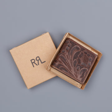RRL Billfold Wallet Embossed Leather