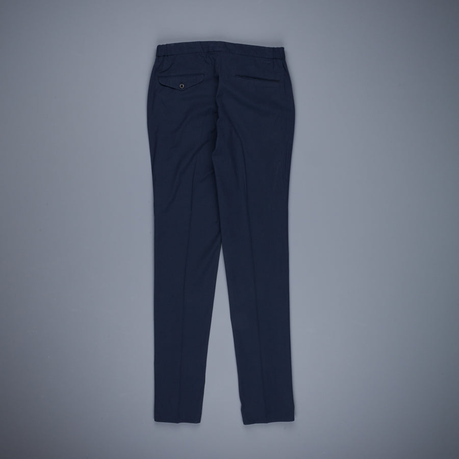 Incotex Drawstring Pants Seersucker Blu Scuro