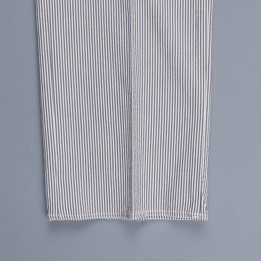 Incotex Drawstring Pants Seersucker Blu White striped