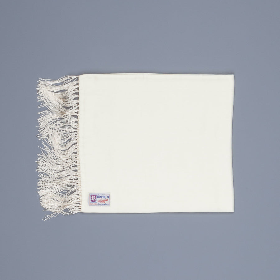The Real McCoy's Aviator Scarf White