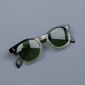 The Real McCoy's Wellington Black & White Sunglasses