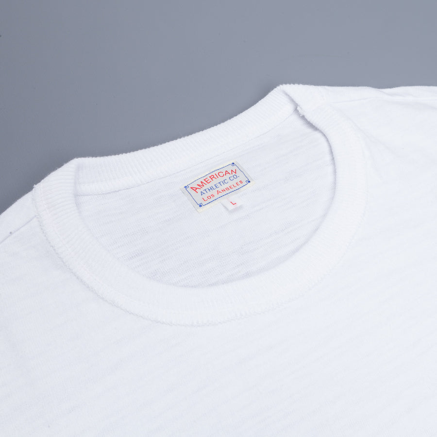 The Real McCoy's Athletic Loopwheel T-Shirt White