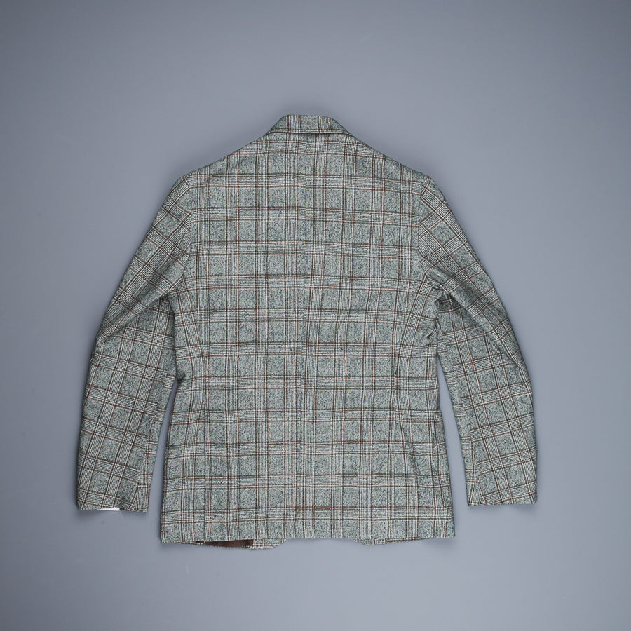 De Petrillo Posillipo Jacket Ferla Cotton & Linen Check Verde Irlandese