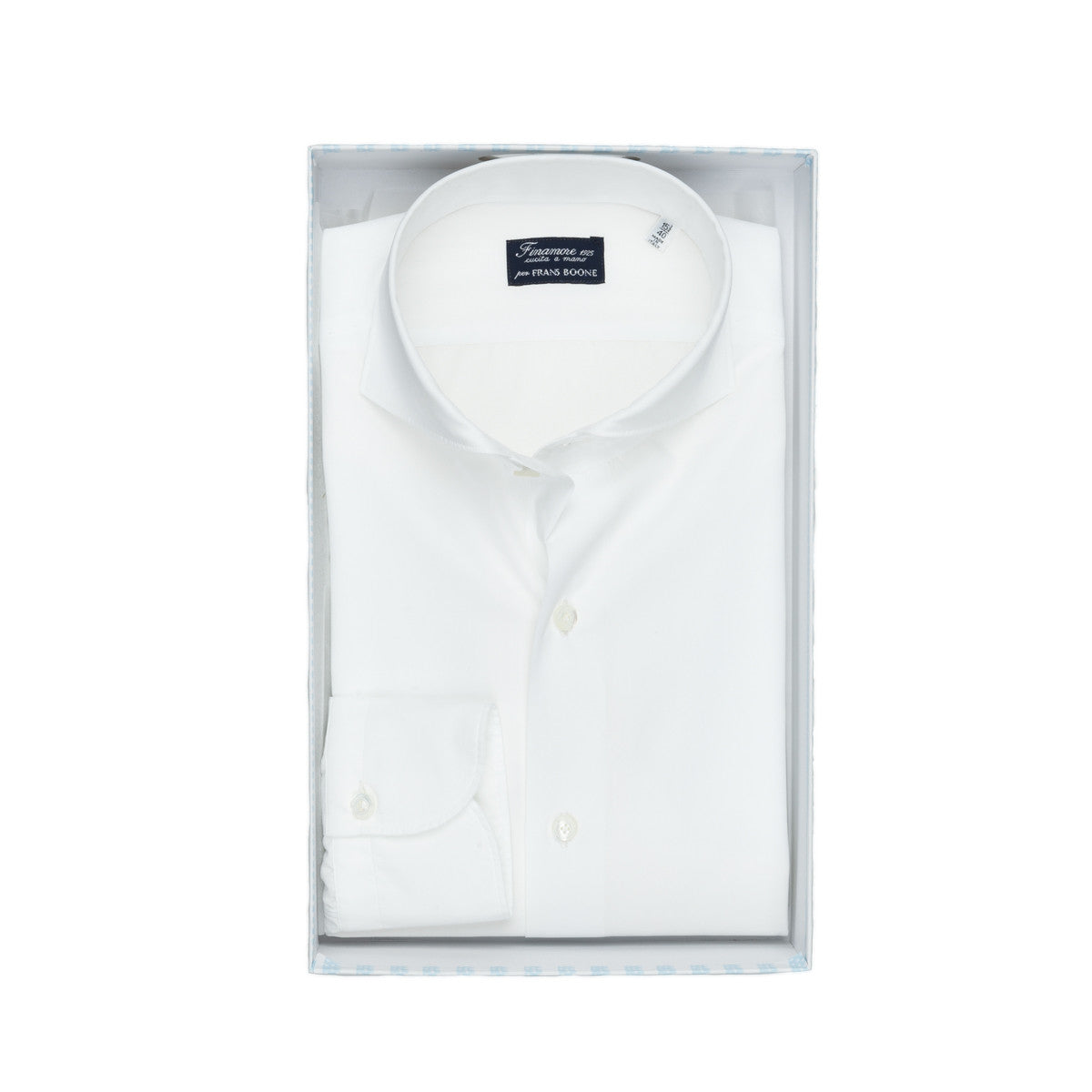 Finamore X Frans Boone Slim Sergio Soft Collar Dress Shirt