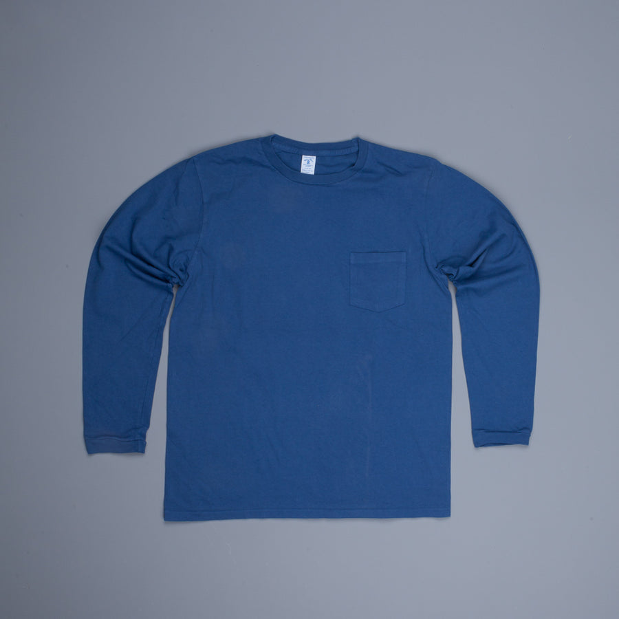 Velva sheen longsleeve pocket tee Navy