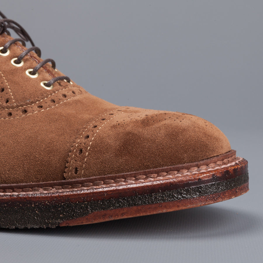 Alden x Frans Boone cap toe in snuff suede on crepe sole