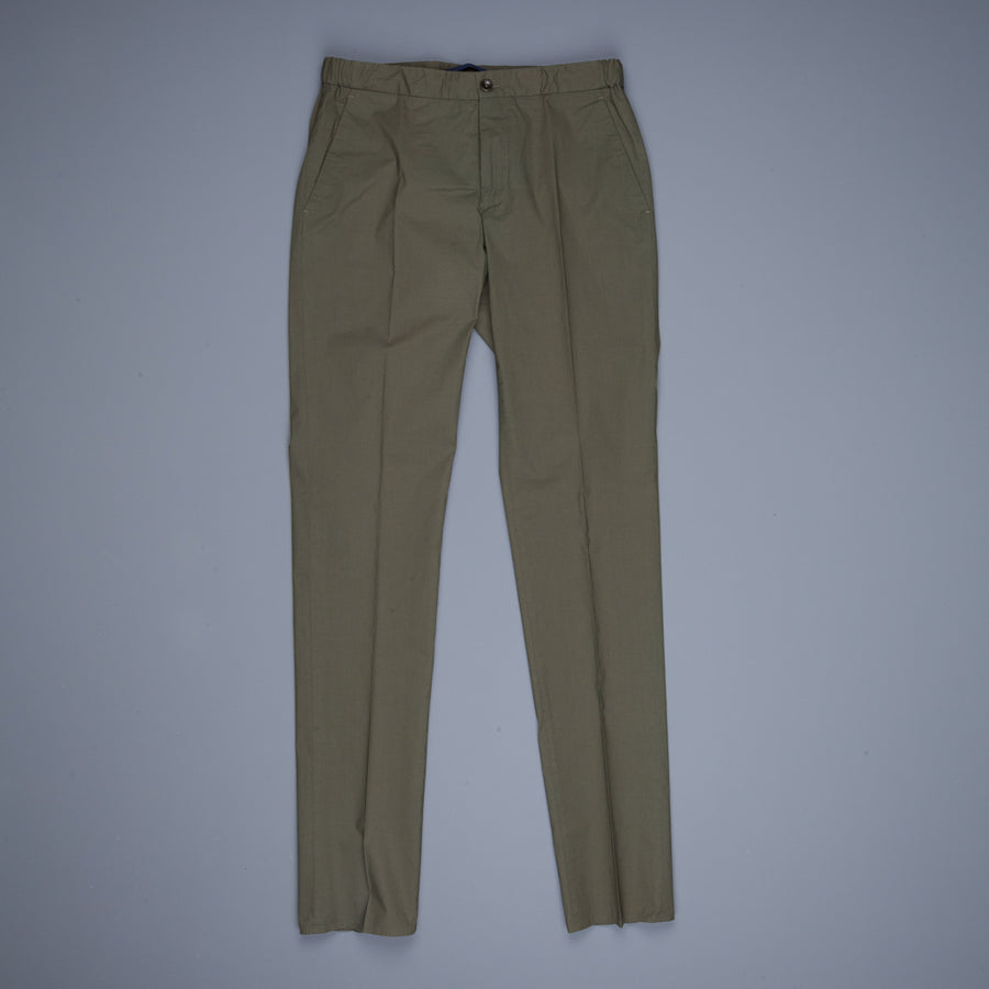 Incotex Urban Traveller Popelino drawstring pants Oliva scuro