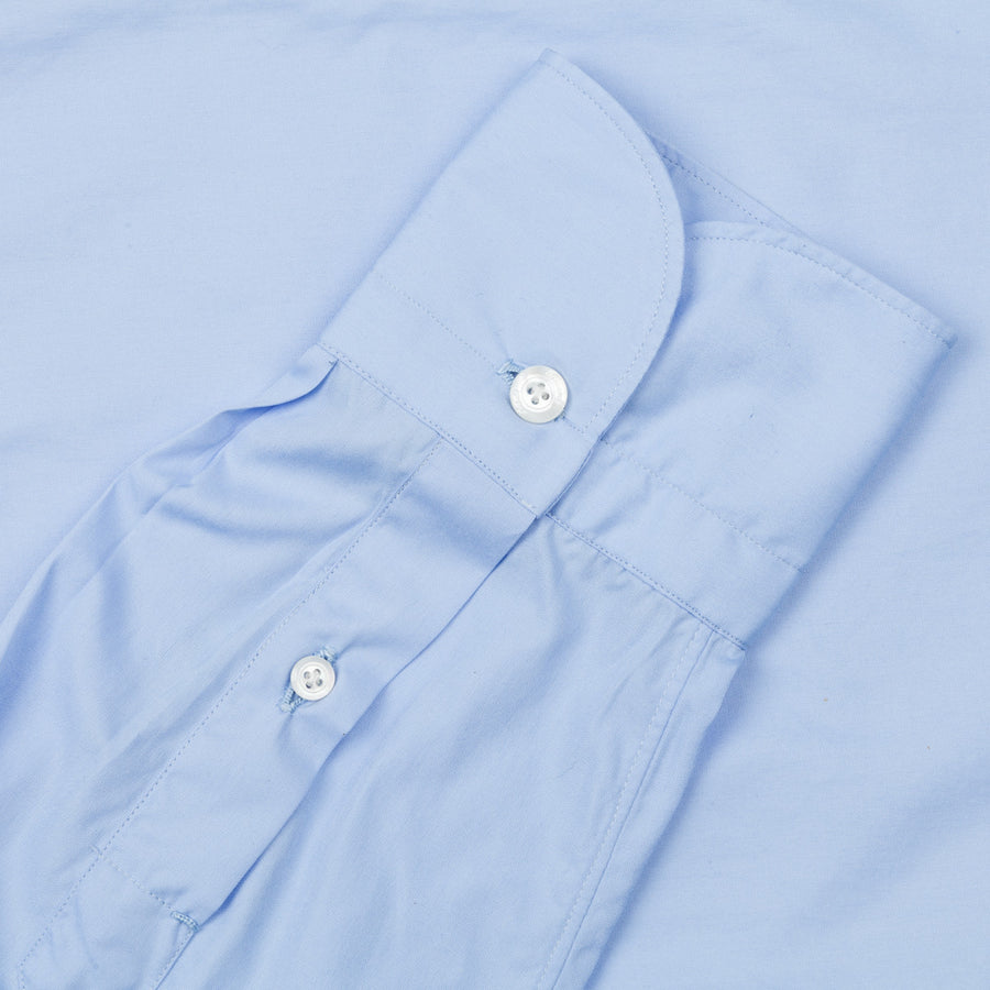 Finamore soft dress collar shirt avio blue poplin