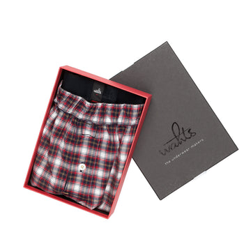 Wahts Knight  Vintage faded red check boxer short
