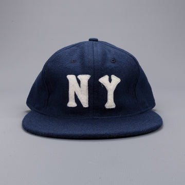 Ebbets field flannel NY Black yankees 1936 6 panel strap back cap Navy