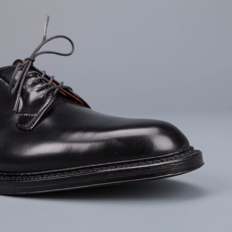 Alden black cordovan plain toe blucher