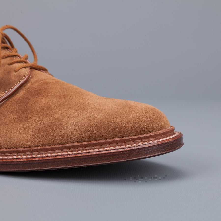 Alden unlined snuff suede plain toe blucher
