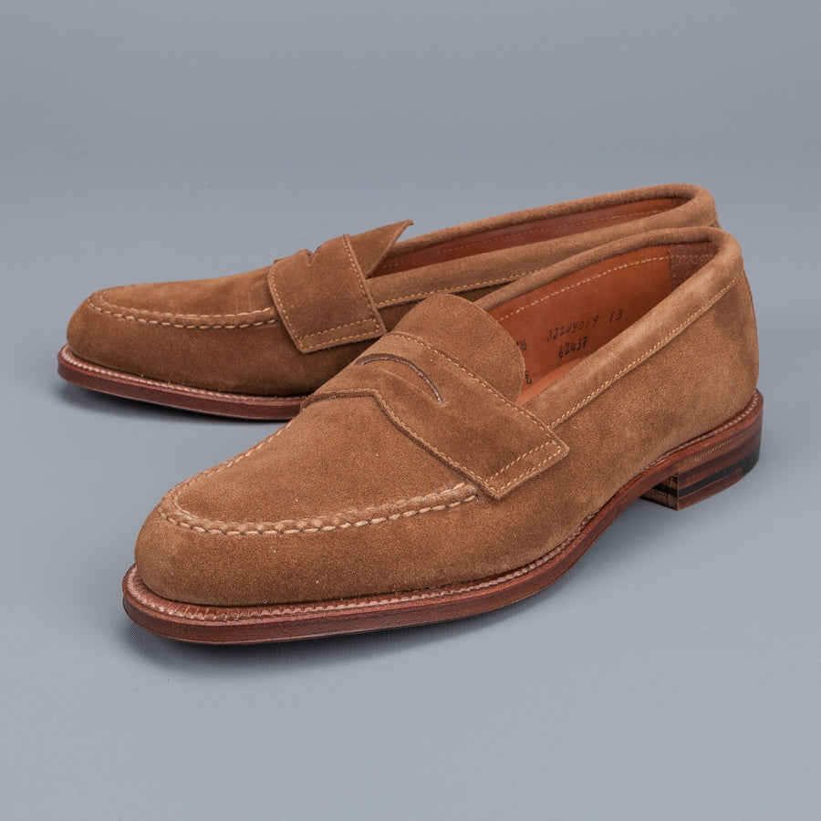 Alden snuff suede loafer on flex sole