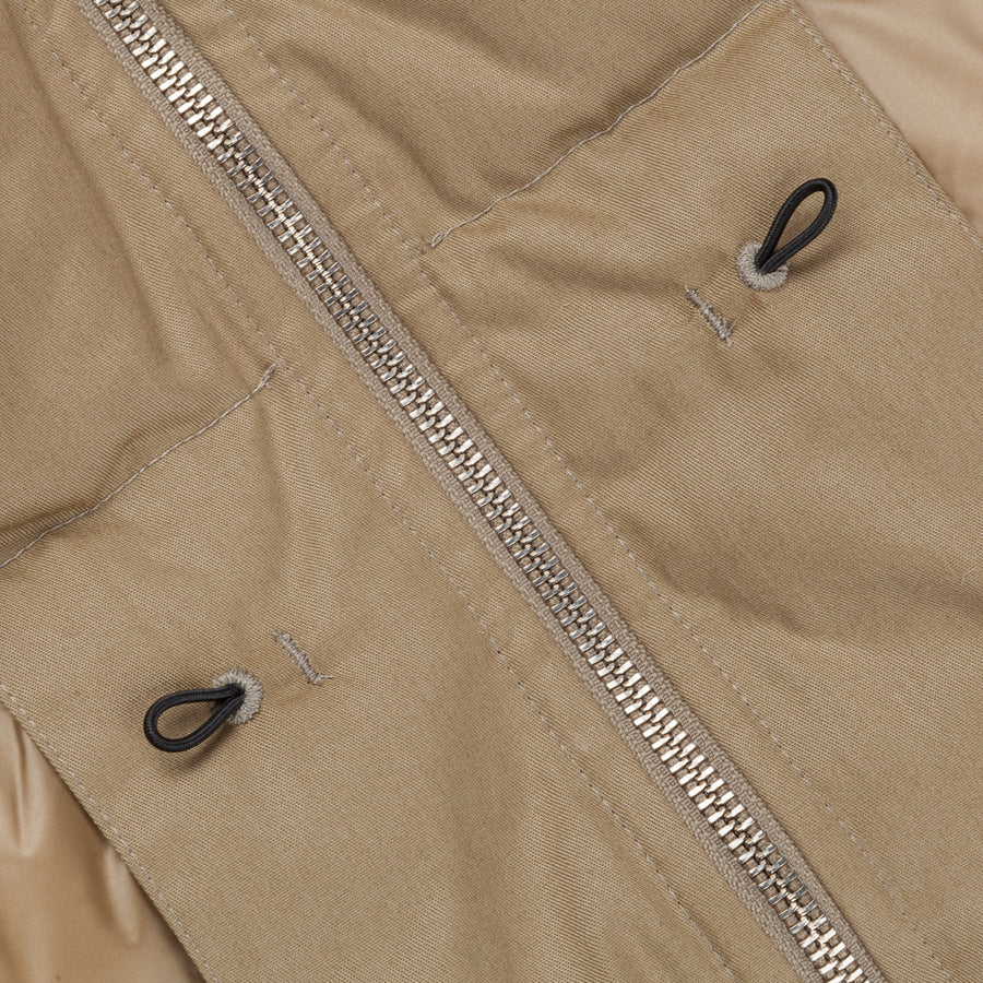 Ten C Hooded down liner Tan