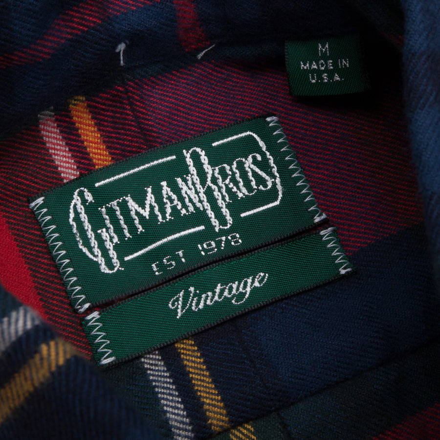 Gitman Vintage Button Down Shirt College Plaid Flannel