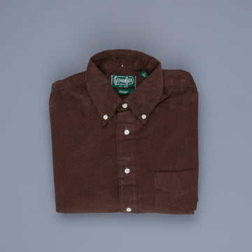 Gitman Vintage Button Down Shirt Corduroy brown