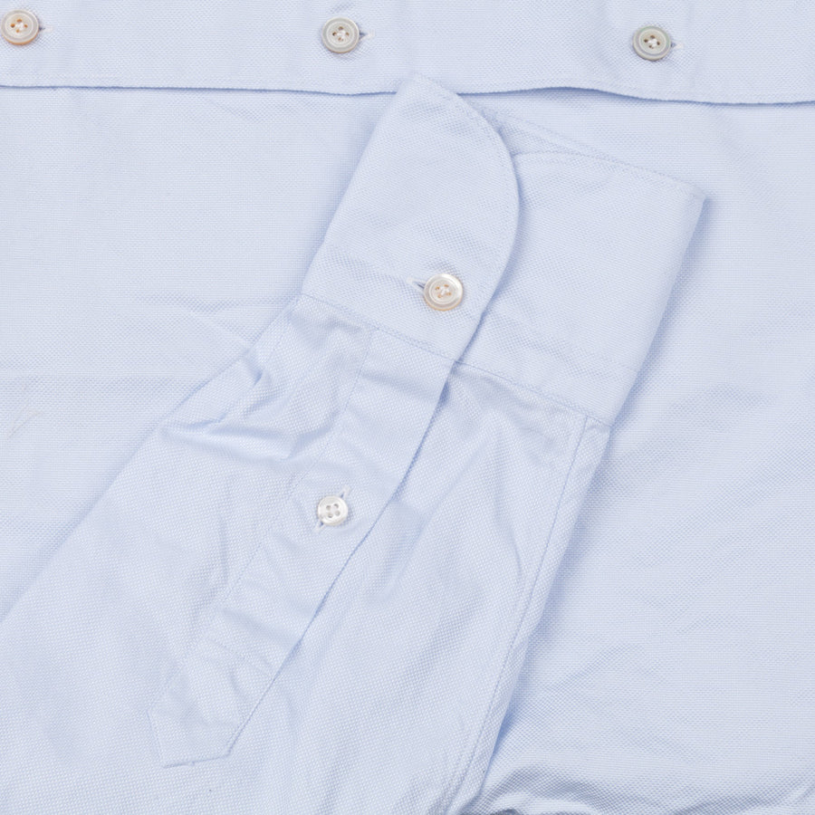 re stocked! Finamore Tokyo shirt washed oxford button down Lucio collar celeste