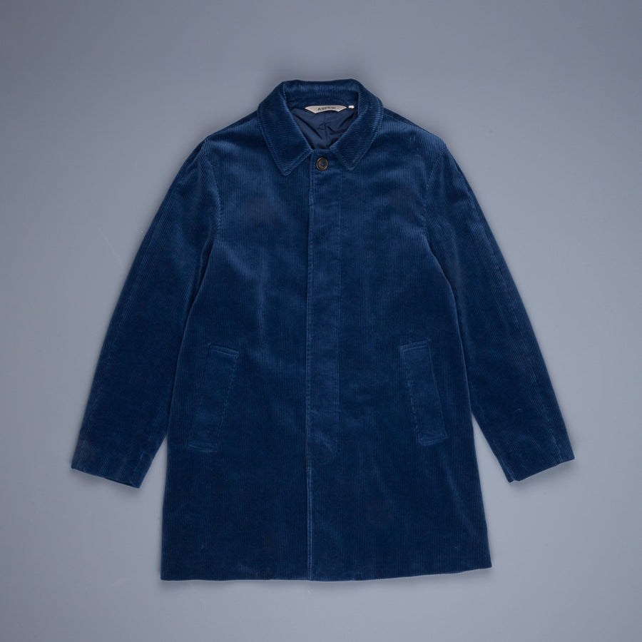 Aspesi Virtus cord coat blue avio